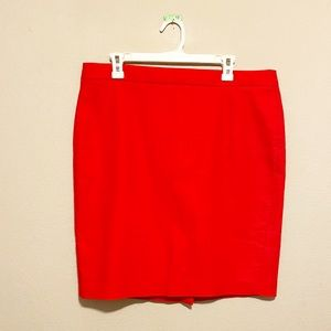 J. by J. Crew Red 100% Cotton Mini Skirt S…
